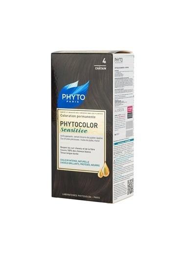 PHYTO PHYTO Phytocolor Sensitive 4 Kestane - Bitkisel Saç Boyası Siyah